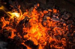 Carvões ardentes foto de stock