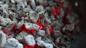 Carvões ardentes, fundo de incandescência do carvão vegetal filme