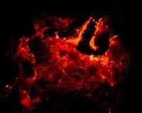 Carvões ardentes vermelhos Fotos de Stock Royalty Free