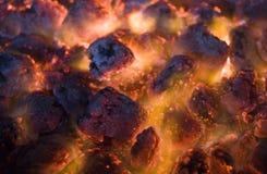 Carvões do fogo Fotografia de Stock Royalty Free