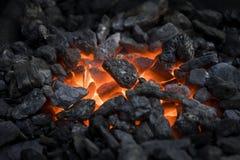 carvões heated foto de stock
