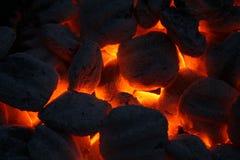 Carvões quentes 2 Foto de Stock Royalty Free