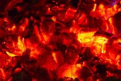 Carvões quentes Imagens de Stock Royalty Free