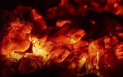 Carvões quentes fotografia de stock