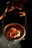 Carvões quentes do cachimbo de água para fumar Imagem de Stock Royalty Free