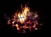 Carvões quentes, exposição longa Fotografia de Stock