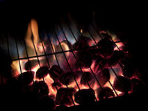 Carvões quentes, exposição longa Imagens de Stock