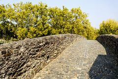 Sertã Seventeenth Century Carvalha Bridge. The Carvalha Bridge is a XVII century structure entirely built from locally quarried stone over the Sertã River royalty free stock images
