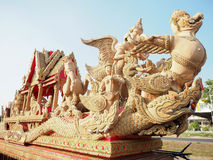 Carve procession in Thailand. On street royalty free stock photos