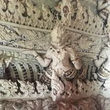 Carve Thai Giant God Stock Images
