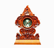 Carve Wood Clock Royalty Free Stock Photo
