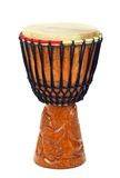Carved African djembe drum Royalty Free Stock Images