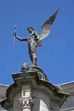 Carved angel. War memorial of angel, Cardiff Royalty Free Stock Photo