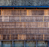 Carved Bamboo Wall of Prayers at the Fushimi Inari-taisha Shrine in Kyoto, Japan Stock Image