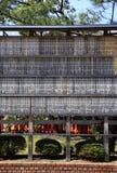 Carved Bamboo Wall of Prayers at the Fushimi Inari-taisha Shrine in Kyoto, Japan Royalty Free Stock Image