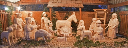Carved bethlehem - christmas Stock Photo