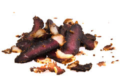 Carved Biltong Stock Image