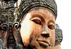 Carved Buddha Faces in Thailand Stock Photography