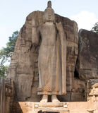 Carved Buddha in the rock Royalty Free Stock Photos