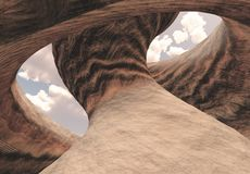 Carved Canyon. Cavern of Stone royalty free illustration