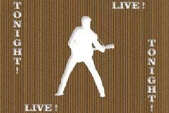Carved Cardboard Live Concert Stock Photo