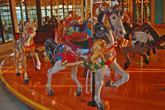 Carved  Carousel Horse Royalty Free Stock Photo