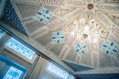 Carved ceiling. Perfect carved ceiling in moroccan house Royalty Free Stock Photos