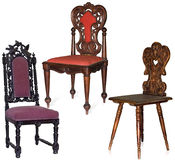 Carved chairs stock photography