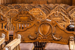 Carved chairs Royalty Free Stock Photos