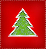 Carved Christmas tree Royalty Free Stock Images