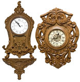 Carved clock Royalty Free Stock Photography