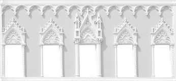 Carved colonnade with arches Stock Photography