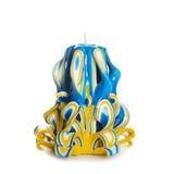 Carved coloriu a vela no fundo branco imagens de stock royalty free