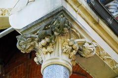 Carved column capital Stock Photos