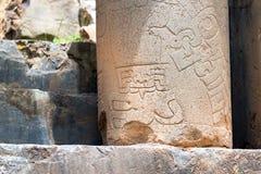 Carved Column in Chavin de Huantar Royalty Free Stock Photo