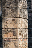 Carved Column in Chichen Itza Stock Photos