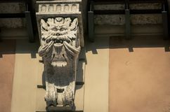 Carved column siena italy Royalty Free Stock Photography
