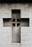 Carved cross gravestone Royalty Free Stock Photography