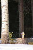 Carved Cross Royalty Free Stock Photography