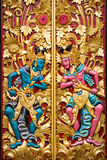 Carved detail on Balinese temple door Stock Image