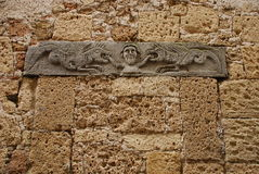 Carved Details on Wall Stock Photos