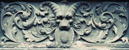 Carved devil in stone. Interesting carved devil in stone. New York Royalty Free Stock Photography