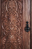 Carved door Royalty Free Stock Photo