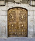 Carved door in Avila Royalty Free Stock Photography