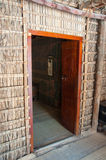 Carved door in Dubai, UAE Royalty Free Stock Photo