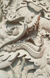 Carved dragon Royalty Free Stock Images