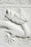 Carved dragon Stock Image