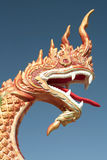 Carved Dragon Head. An intricately carved dragon head that could be used to depict Chinese New Year, dragon boat races, or Buddhism Stock Photos