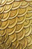 Carved dragon scales of measurement Stock Images