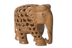 Carved Elephant Stock Image